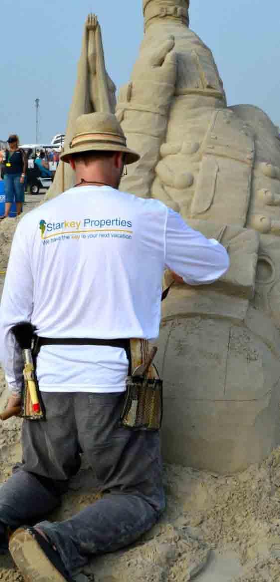 A Starkey Properties sponsored sand castle builder
