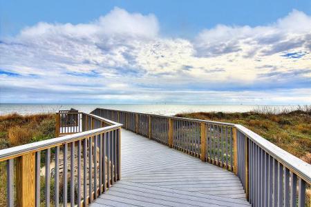 Beachfront view from a Starkey Properties rental
