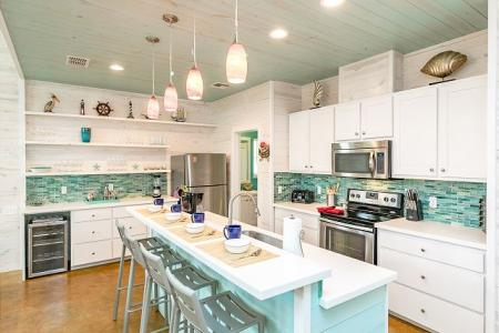 Kitchen in a Port Aransas beach house