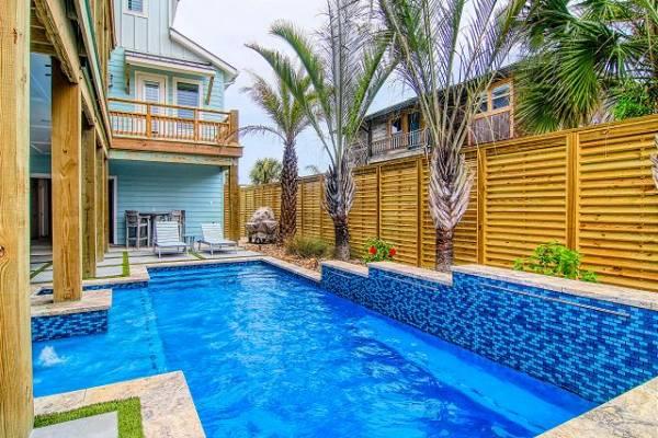 Private pool at a Port Aransas Rental