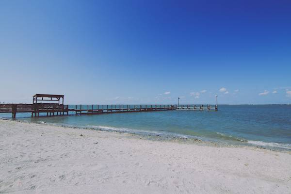 mustang island state park beach and pier