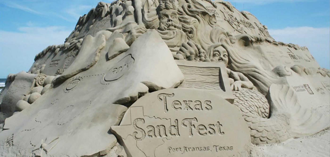 A sandcastle from the 2016 Texas sandfest