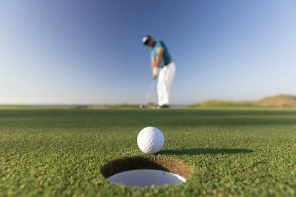 golfer from afar