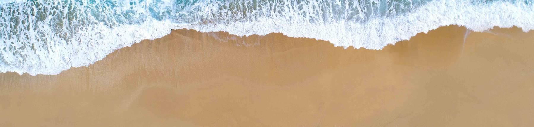 Sand and waves on Port Aransas Beach
