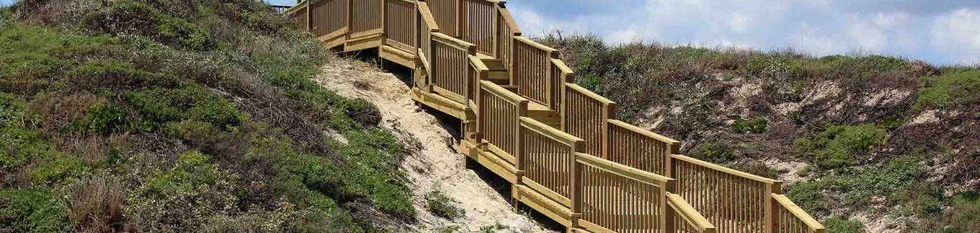 Steps to the beach in Port A, Texas